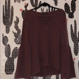 American Eagle sweater w/ flare sleeves